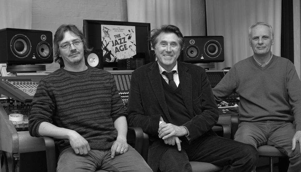 From Left: Simon Willey, Bryan Ferry, Rhett Davies.