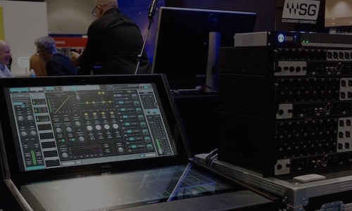 スタッフ OK | AES 2016 Waves SoundGrid Connectや次期バージョンのLV1など広がりを見せるSoundGridネットワークの世界!  Wavesブースでは新製品と並んで、タッチパネル・ライブミキサーコンソールLV1や、新たなSoundGrid対応サードパーティ・プラグイン、そしてハードウェア製品も披露され、SoundGridシステムの世界の広がりを感じる展示となっていました。